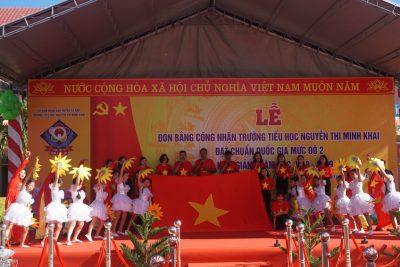 Trường Tiểu học Nguyễn Thị Minh Khai huyện Ea Kar đón Bằng công nhận đạt chuẩn Quốc gia mức độ 2 và Khai giảng năm học mới 2018 – 2019
