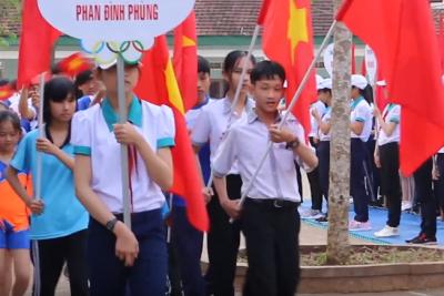 Video Diễu hành Hội khỏe Phù Đổng huyện Ea Kar lần thứ XIV, năm 2018