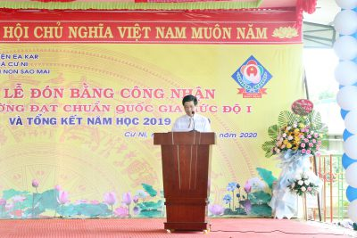 Trường Mầm non Sao Mai, huyện Ea Kar đón Bằng công nhận trường đạt chuẩn Quốc gia và Tổng kết năm học 2019-2020.